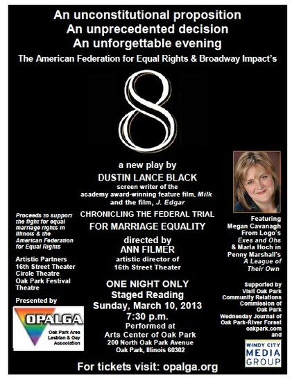 Chicago 3/10/13 Dustin Lance Black's New Play,