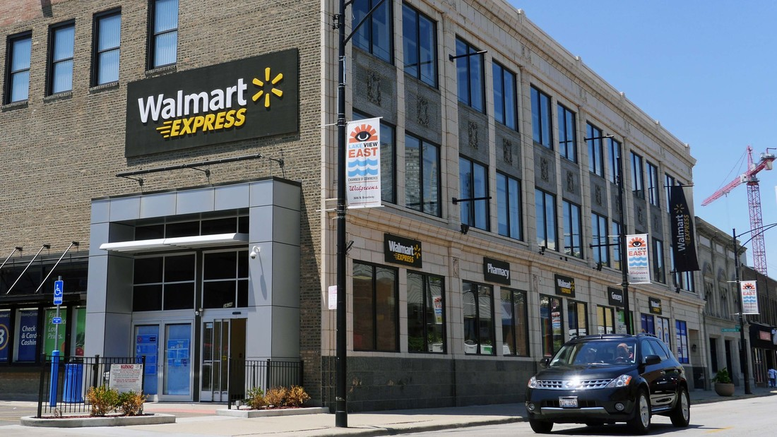 Walmart ends express concept closing lakeview and river for Irving hotel chicago
