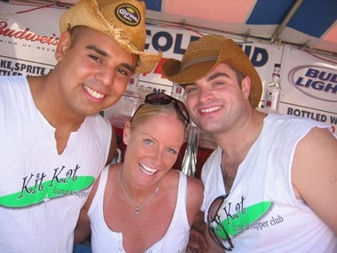 Roland, Kami and Joel at PrideFest