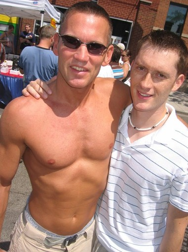 Bruce and Jeff at PrideFest