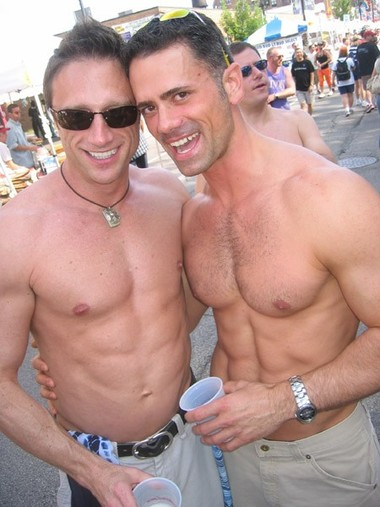 Rob and Jeff at PrideFest