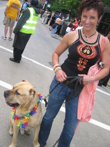 Boodrys and Kinga from Poland at the Parade