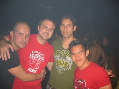 Shane, Brad, David and Mike at Crobar