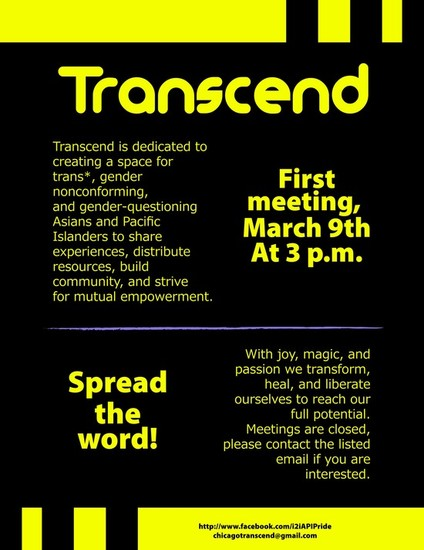 3/9/13 Transcend: Asian and Pacific Islander Trans* Group