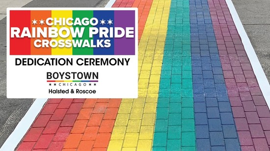 5/30/19 Chicago Rainbow Pride Crosswalks Dedication Ceremony