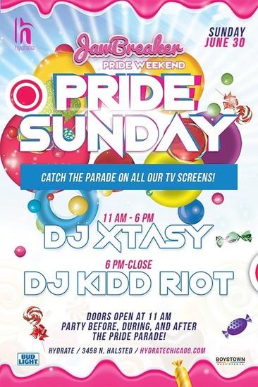 6/30/19 Pride Parade Sunday with DJ Xtasy and Kid Riot