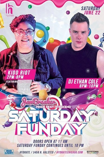 6/22/19 Pride Fest Saturday Funday with DJ Kidd Riot and Ehtan Cole