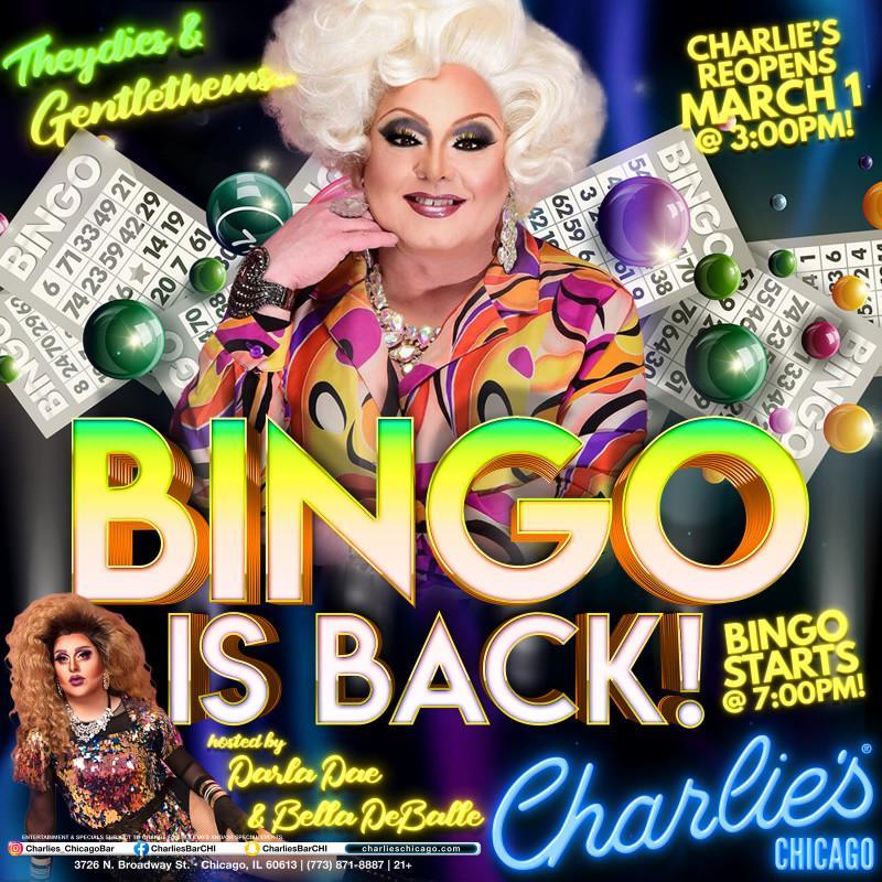 Monday Night Bingo at Charlie's